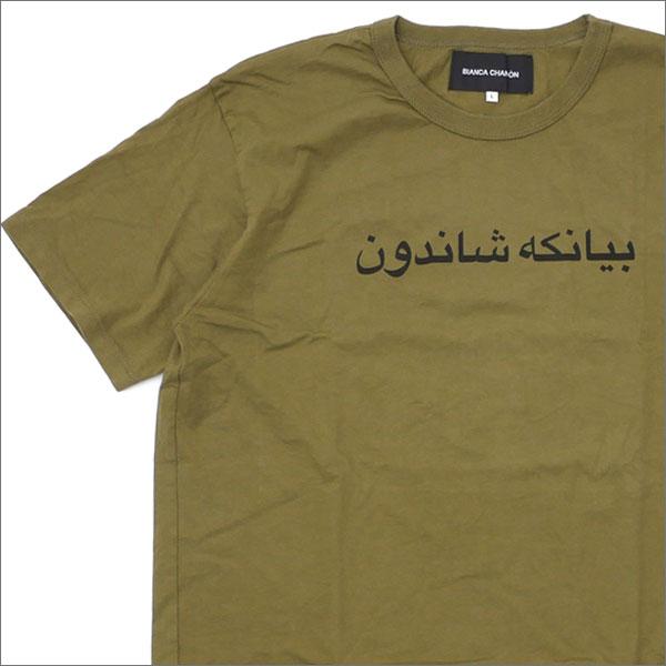 Bianca Chandon(ビアンカシャンドン) ARABIC LOGO TYPE T-SHIRT (Tシャツ) KHAKI 420-000082-055+【新品】