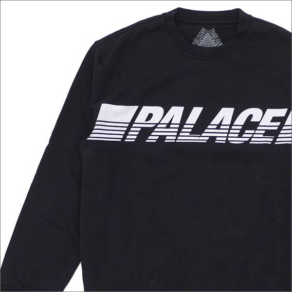 Palace Skateboards(パレス スケートボード) LINE CREW SWEAT (スウェット) BLACK 420-000077-041x【新品】