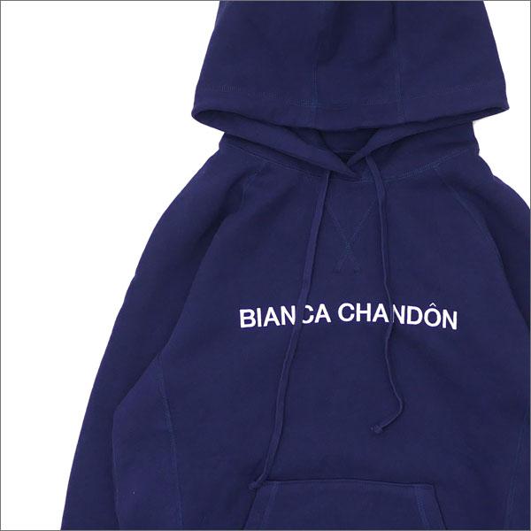 Bianca Chandon(ビアンカシャンドン) Logotype Pullover Hood (スウェットパーカー) NAVY 211-000534-047+【新品】