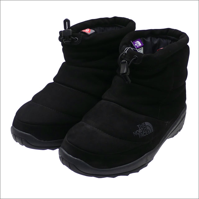 THE NORTH FACE PURPLE LABEL (ザ・ノースフェイス パープルレーベル) Nuptse Bootie WP Leather (ブーツ) BLACK 298-000033-281x【新品】