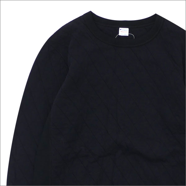 [次回のお買い物で使える500円OFFクーポン配布中!! 4/30(火)まで!!] nanamica ナナミカ xChampion チャンピオン Quilting Knit Crew Neck Shirt スウェット BLACK 420000115041 【新品】