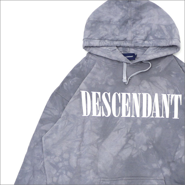 DESCENDANT(ディセンダント) BLEACH/TIE DYE HOODED SWEATSHIRT (スウェットパーカー) 172TNDS-CSM01S GRAY 211-000542-052x【新品】