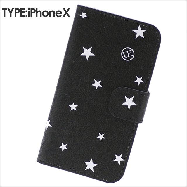 uniform experiment(ユニフォームエクスペリメント) STAR FLIP iPhone X CASE (アイフォンケース) BLACK 273-000122-011x【新品】
