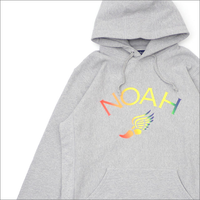NOAH(ノア) TRI-COLOR WINGED FOOT HOODIE (スウェットパーカー) GRAY 211-000546-052+【新品】