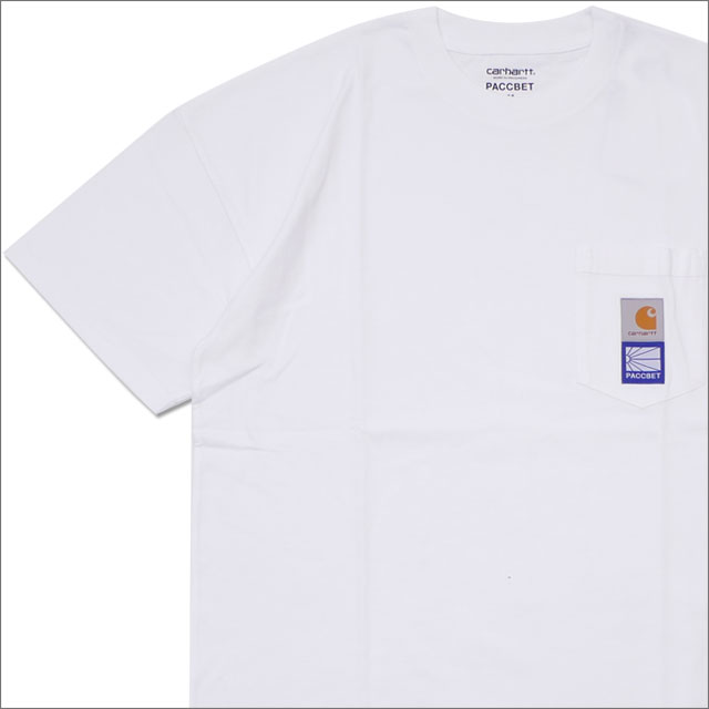 PACCBET(ラスベート) x Carhartt WIP(カーハート) Pocket T-Shirt (Tシャツ) WHITE 420-000128-040+【新品】