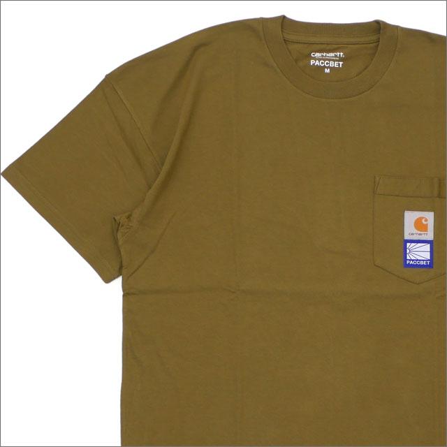 PACCBET(ラスベート) x Carhartt WIP(カーハート) Pocket T-Shirt (Tシャツ) KHAKI 420-000128-045+【新品】