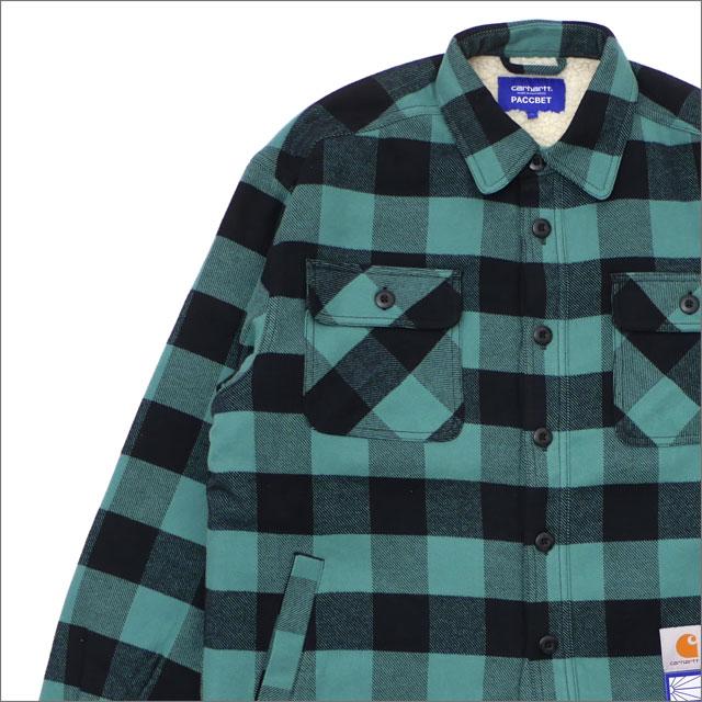 PACCBET(ラスベート) x Carhartt WIP(カーハート) Oversize Sherpa Shirt Jacket (ジャケット) GREEN 420-000127-045+【新品】