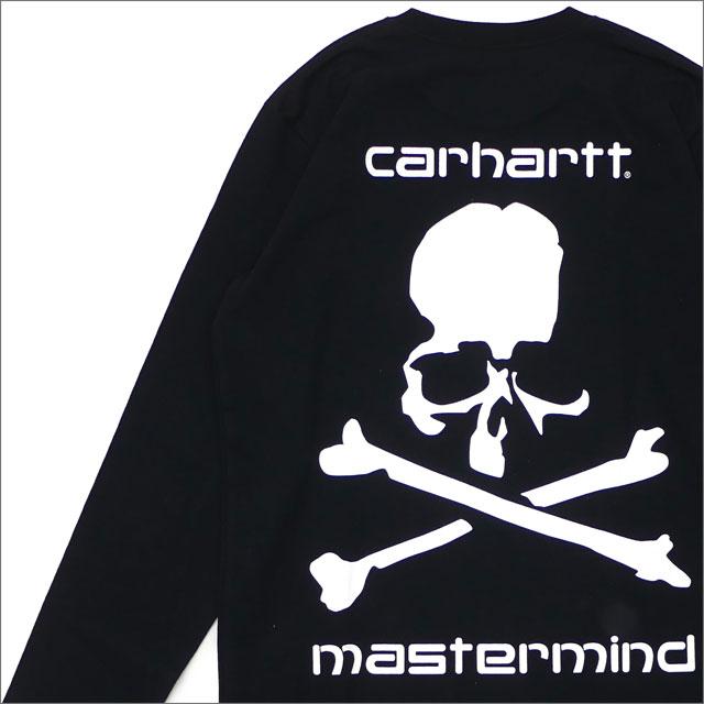 mastermind JAPAN(マスターマインドジャパン) x Carhartt WIP MMJ LONG SLEEVE T-SHIRT (長袖Tシャツ) BLACK 200-007748-031+【新品】