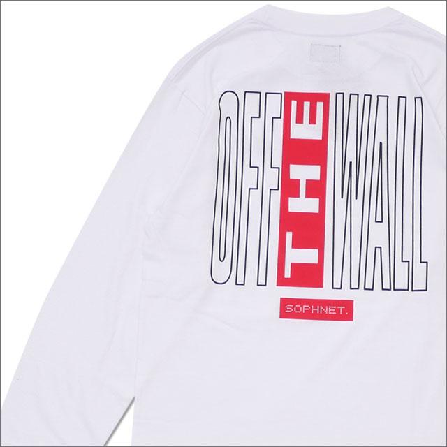 SOPHNET.(ソフネット) x VANS(バンズ) OFF THE WALL L/S TEE(長袖Tシャツ) WHITE 202-000946-040x【新品】