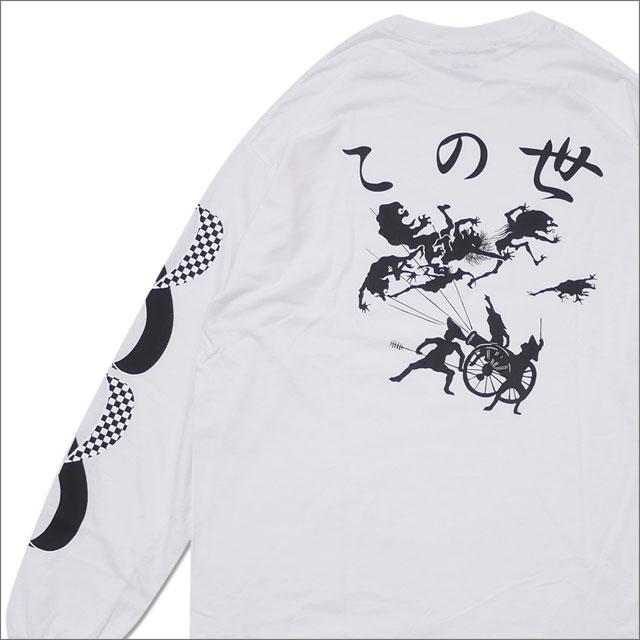 Sasquatchfabrix.(サスクワァッチファブリックス) x NEPENTHES(ネペンテス) 直営店限定 KONOYO L/S TEE (長袖Tシャツ) WHITE 202-000952-040+【新品】