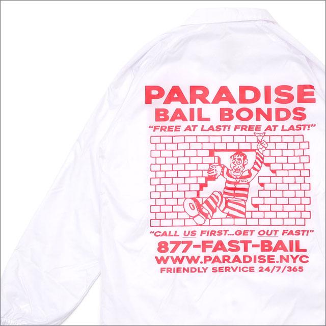 PARADIS3/PARADISE(パラダイス) Bail Bonds Coaches (コーチジャケット) WHITE 418-000187-050+【新品】