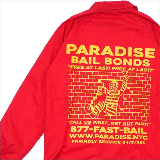 PARADIS3/PARADISE(パラダイス) Bail Bonds Coaches (コーチジャケット) RED 418-000187-043+【新品】