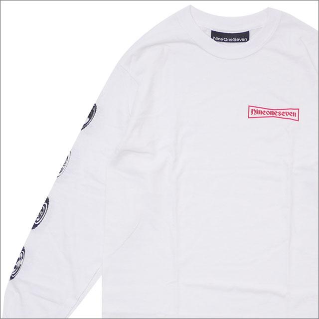 【期間限定特別価格!!】 917(ナインワンセブン)(Nine One Seven) 91 Stone Longsleeve T-Shirt (長袖Tシャツ) WHITE 418-000246-030 418-000267-030+【新品】