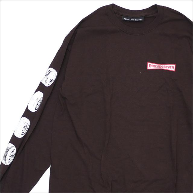 【期間限定特別価格!!】 917(ナインワンセブン)(Nine One Seven) 91 Stone Longsleeve T-Shirt (長袖Tシャツ) BROWN 418-000246-036+【新品】