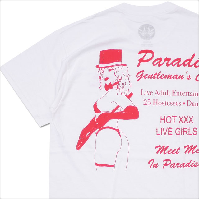 PARADIS3/PARADISE(パラダイス) Gentleman's Club Tee (Tシャツ) WHITE 418-000182-040+【新品】