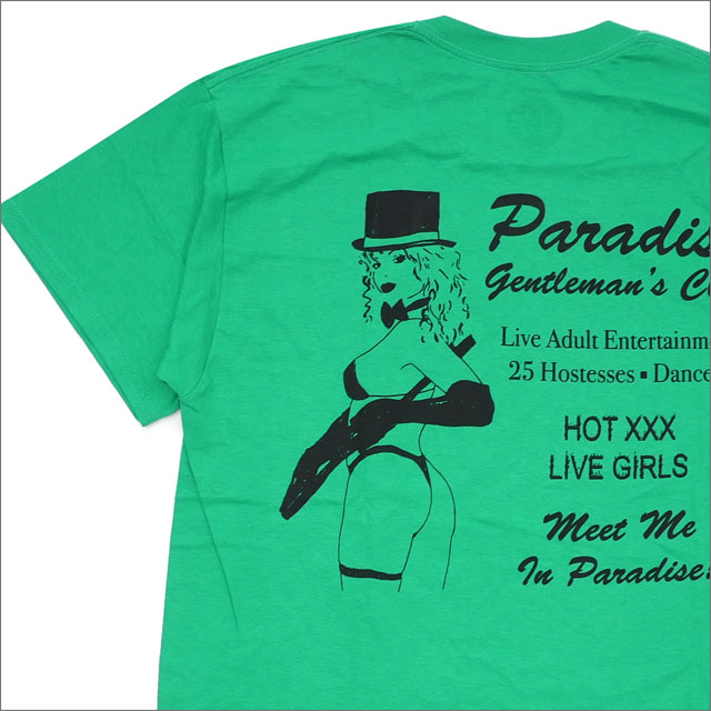 PARADIS3/PARADISE(パラダイス) Gentleman's Club Tee (Tシャツ) GREEN 418-000182-045+【新品】