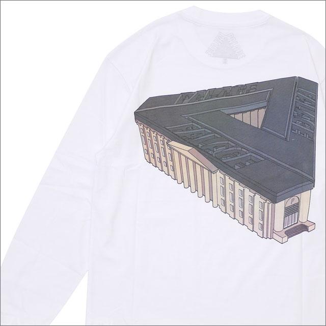 [次回のお買い物で使える500円OFFクーポン配布中!! 4/30(火)まで!!] Palace Skateboards パレス スケートボード PALAZZO L S TEE 長袖Tシャツ WHITE 420000167040 【新品】