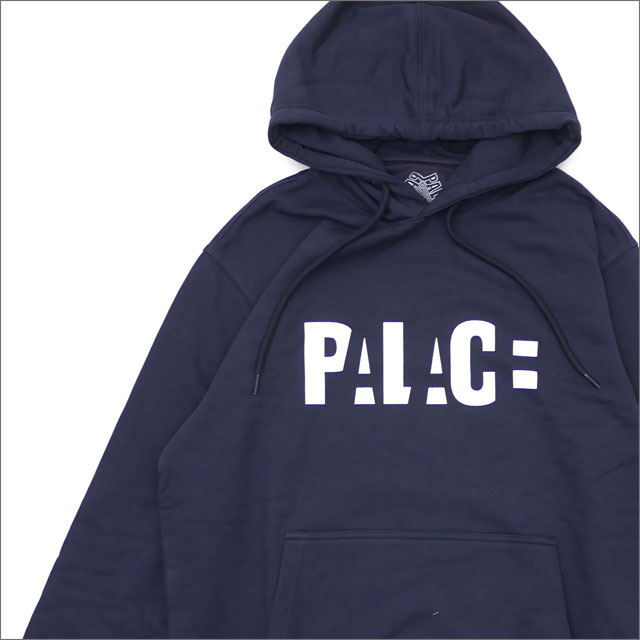 Palace Skateboards(パレス スケートボード) BLOCK HOOD (スウェットパーカー) NAVY 420-000166-047+【新品】