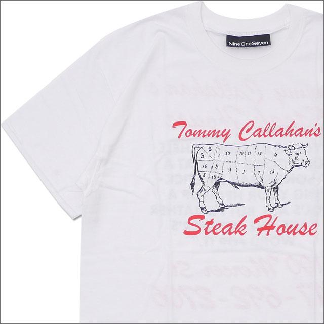 917(ナインワンセブン)(Nine One Seven) CALLAHAN'S TEE (Tシャツ) WHITE 420-000165-050x【新品】