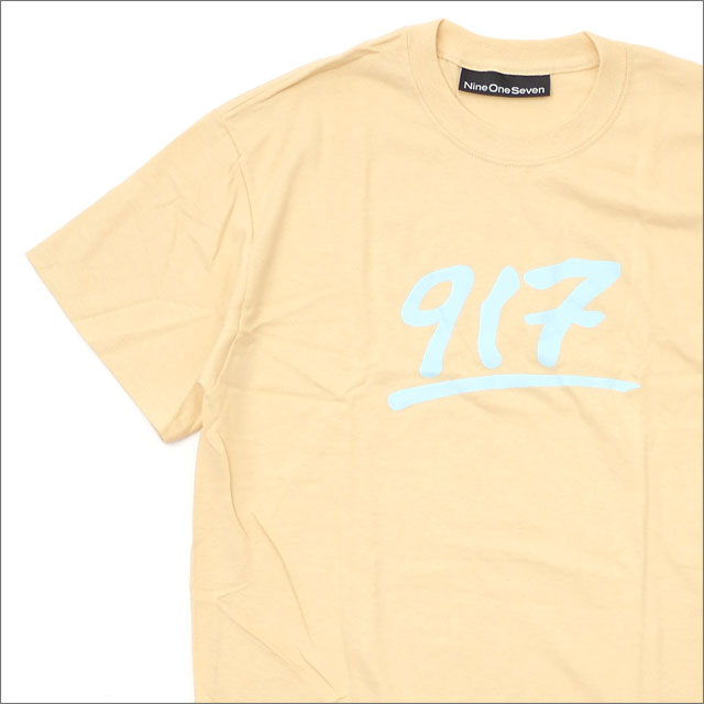 917(ナインワンセブン)(Nine One Seven) GODFATHER T-SHIRT (Tシャツ) CREME 420-000164-046x【新品】