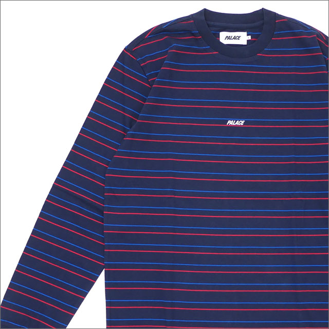 Palace Skateboards(パレス スケートボード) Basically A Stripe Longsleeve (長袖Tシャツ) NAVY 418-000174-047x【新品】