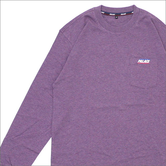 Palace Skateboards(パレス スケートボード) Basically A Pocket Longsleeve (長袖Tシャツ) PURPLE MARL 418-000151-049x【新品】