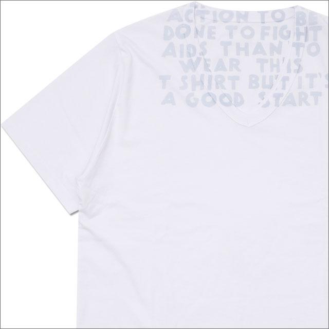 Maison Margiela メゾン・マルジェラ AIDS TSHIRT Tシャツ WHITExLT.BLUE 200007838040 【新品】