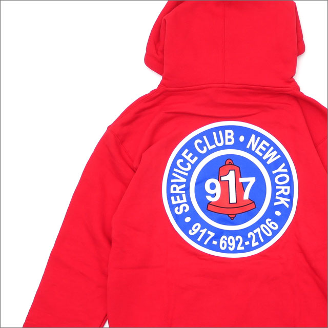 917(ナインワンセブン)(Nine One Seven) Club Pullover Hood (パーカー) RED 418-000237-033x【新品】