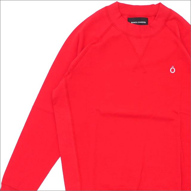 Bianca Chandon(ビアンカシャンドン) Circumflex Pique Crewneck (長袖Tシャツ) RED 418-000214-033+【新品】