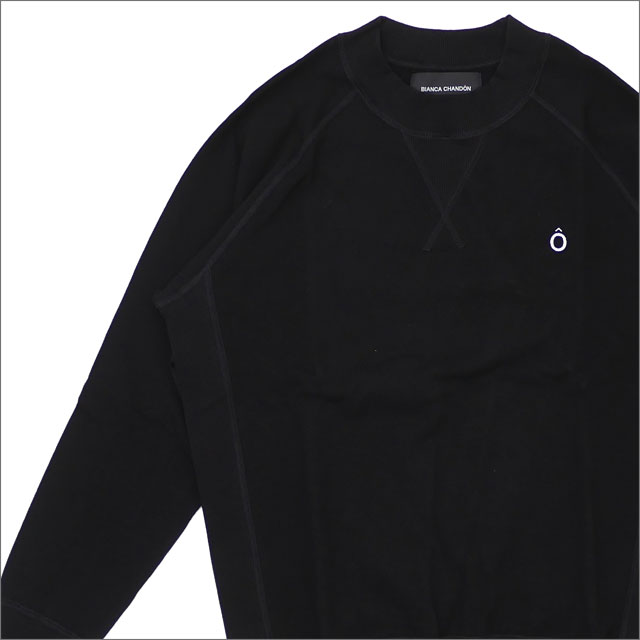 Bianca Chandon(ビアンカシャンドン) Circumflex Pique Crewneck (長袖Tシャツ) BLACK 418-000214-031+【新品】