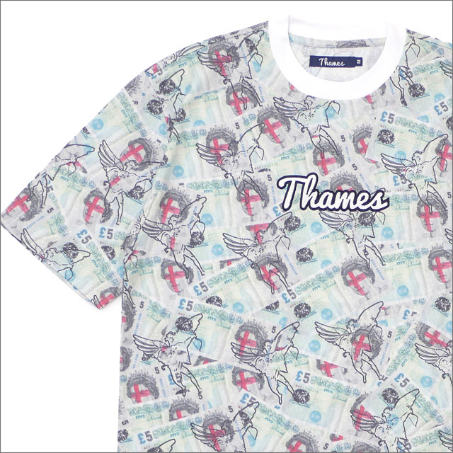 THAMES LONDON(テムズ・ロンドン) SKYDIVER LOGO T-SHIRT (Tシャツ) ALL OVER PRINT 420-000174-049+【新品】