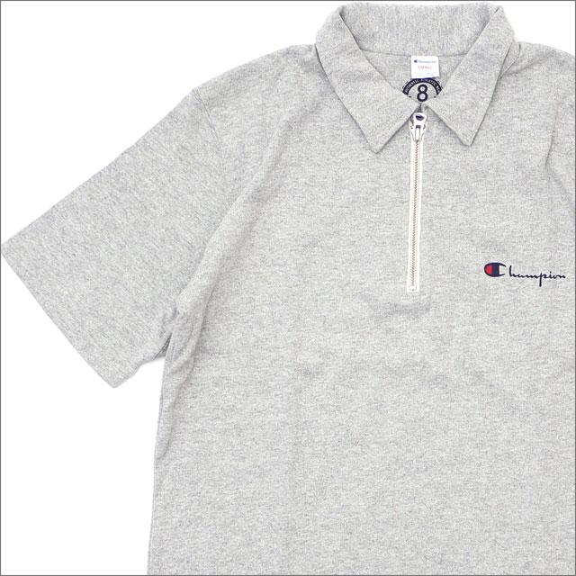nanamica(ナナミカ) xChampion (チャンピオン) Half Zip Shirt (半袖シャツ) MIX GRAY 420-000170-032+【新品】