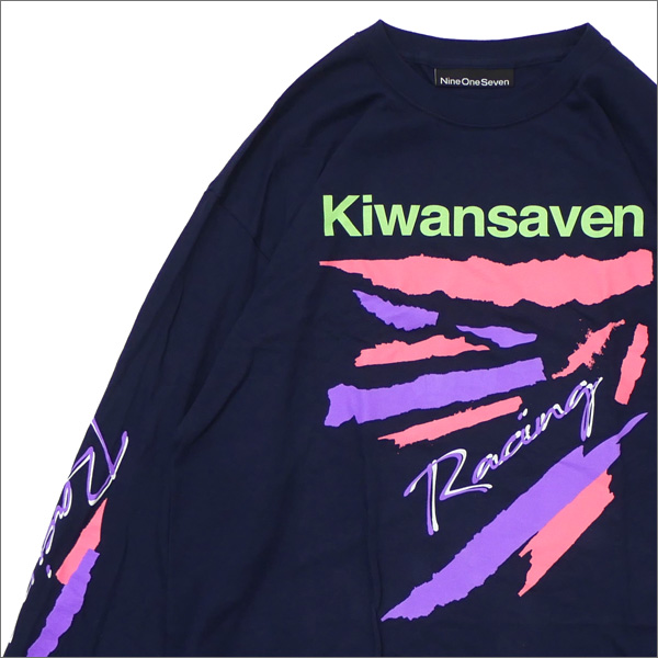 917(ナインワンセブン)(Nine One Seven) Kiwanseven Long Sleeve T-Shirt (長袖Tシャツ) NAVY 418-000242-037+【新品】