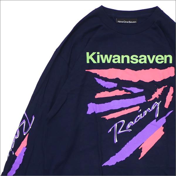 917(ナインワンセブン)(Nine One Seven) Kiwanseven Long Sleeve T-Shirt (長袖Tシャツ) NAVY 418-000242-037+【新品】