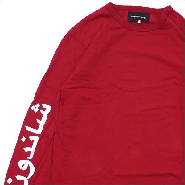 Bianca Chandon(ビアンカシャンドン) Arabic Logotype Longsleeve T-Shirt (長袖Tシャツ) BRICK 418-000219-049+【新品】