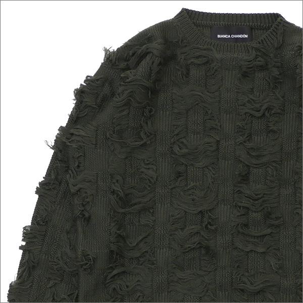 Bianca Chandon(ビアンカシャンドン) Cut Float Jacquard Sweater (ニット)(セーター) OLIVE 418-000227-035+【新品】
