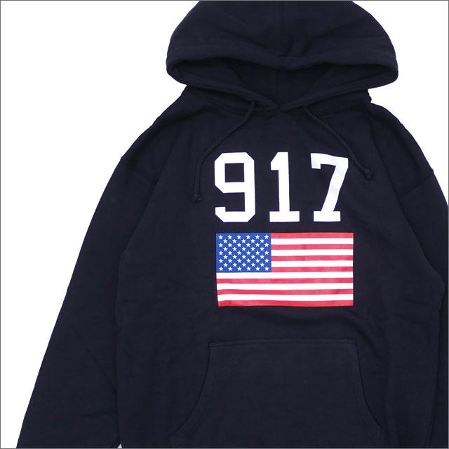 917(ナインワンセブン)(Nine One Seven) 917 USA Hooded Sweatshirt (スウェットパーカー) NAVY 418-000271-037+【新品】