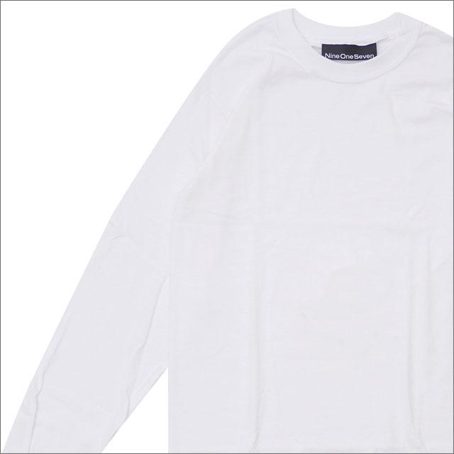 917(ナインワンセブン)(Nine One Seven) Nine One Seven Long Sleeve T-Shirt (長袖Tシャツ) WHITE 418-000297-030+【新品】