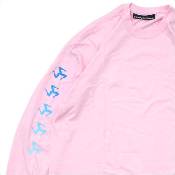 917(ナインワンセブン)(Nine One Seven) Gradient Legs Long Sleeve Tee (長袖Tシャツ) PINK 418-000283-033+【新品】