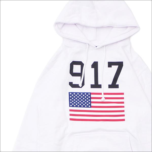 917(ナインワンセブン)(Nine One Seven) 917 USA Hooded Sweatshirt (スウェットパーカー) WHITE 418-000271-030+【新品】