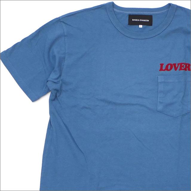 [次回のお買い物で使える500円OFFクーポン配布中!! 4/30(火)まで!!] Bianca Chandon ビアンカシャンドン LOVER TSHIRT Tシャツ BLUE 420000180054 【新品】