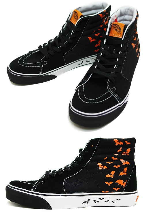 VANS(반즈) SK8-HI Bat Trails BLACKxORANGE POPSICLE