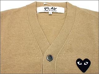 PLAY COMME des GARCONS ( Comme des garcons ) tip Wool Cardigan BEIGE 231-000007-046