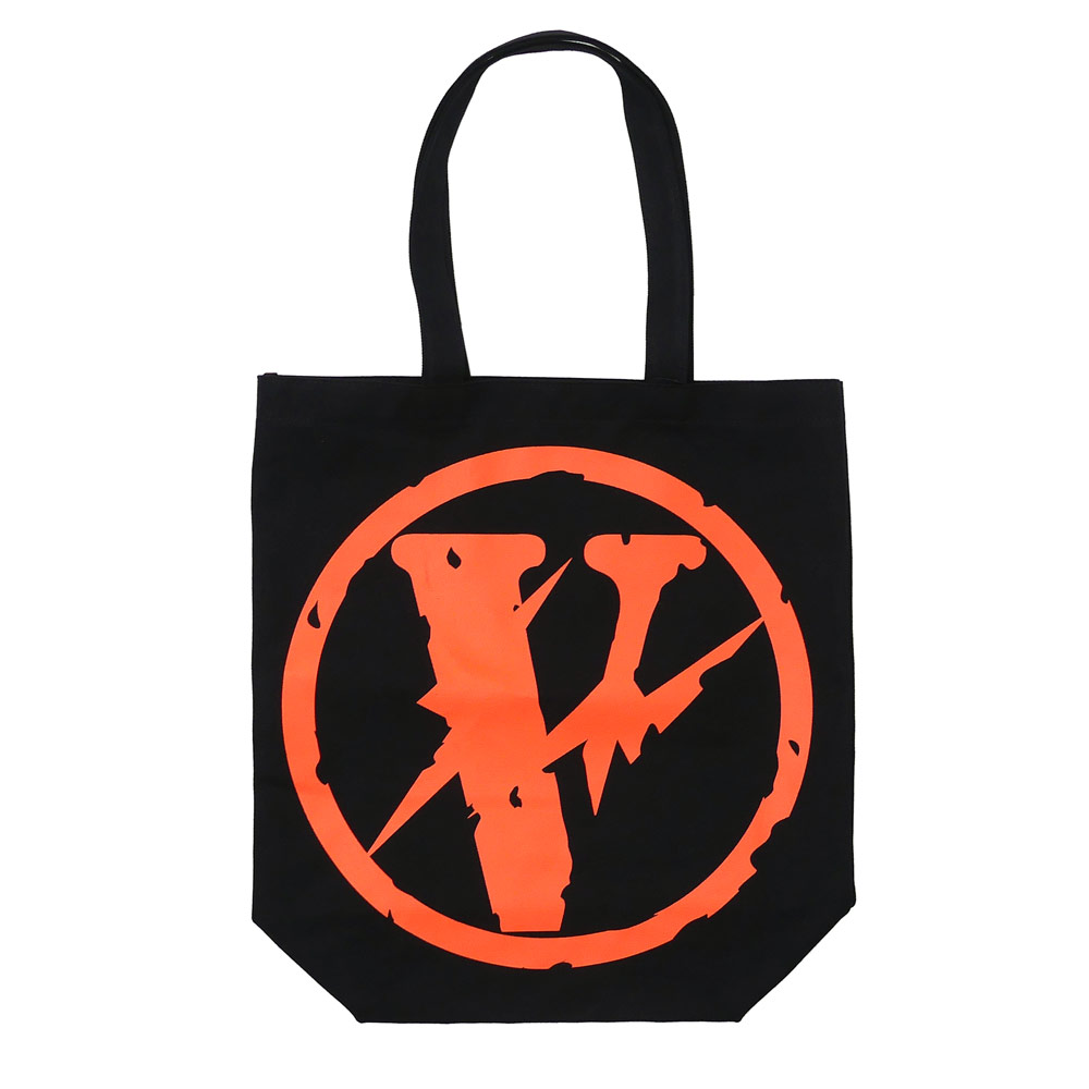 VLONE(viron)x Fragment Design(片断设计)CANVAS TOTE JAIL V PARKING(大手提包)BLACK 277-002365-011+THE PARK、ING GINZA(这个停车银座)