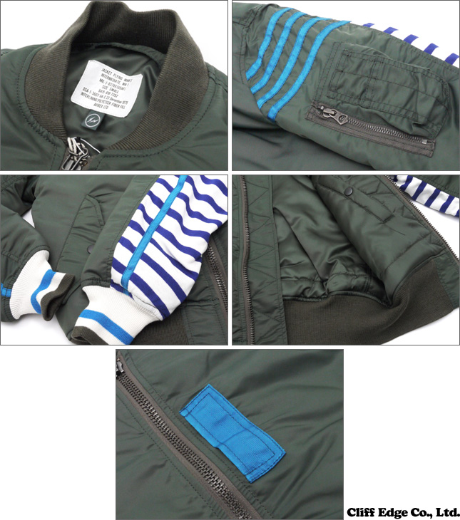 the POOL aoyama (the pool Aoyama) AVIREX (avirex) x Fragment Design (fragment design) Ma-1 JACKET (jacket) OD 230-000838-000 +