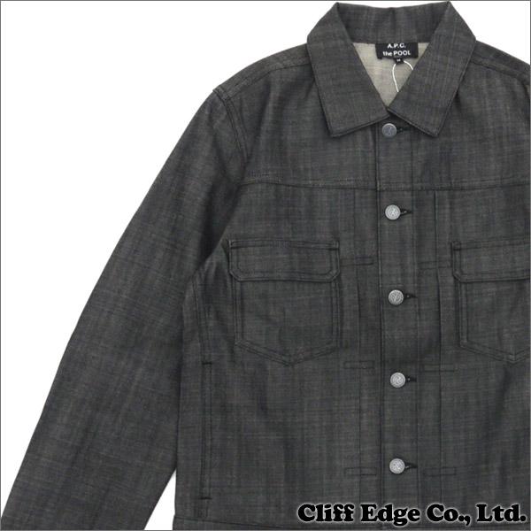 Apc black denim jacket