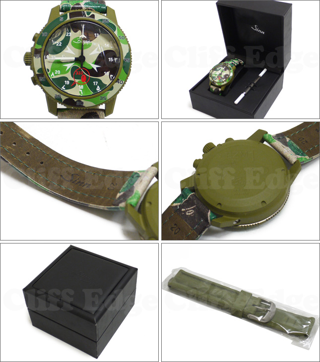 A BATHING APE x SINN EZM1-BAPE CAMO MODEL COLOR:GREEN SIZE:FREE 187 - 000089 - 015 +