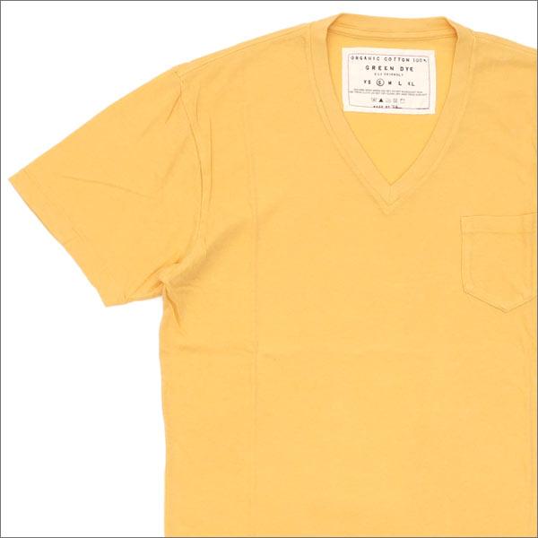 Ron Herman(ロンハーマン) GREEN DYE POCKET V-NECK TEE (Tシャツ) YELLOW 200-007114-038x【新品】