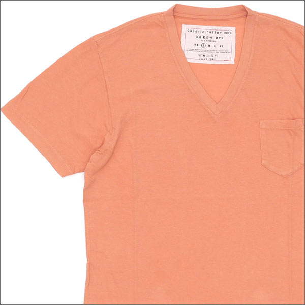 Ron Herman(ロンハーマン) GREEN DYE POCKET V-NECK TEE (Tシャツ) CORAL 200-007114-033x【新品】