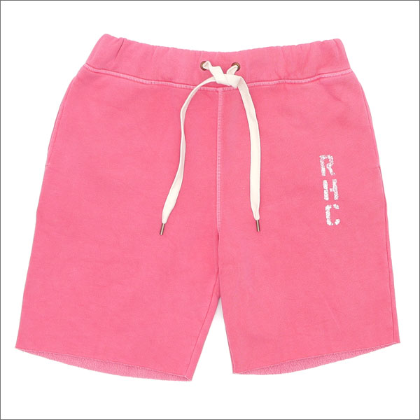 RHC Ron Herman(ロンハーマン) PIGMENT PUFFY SHORTS (スウェットショーツ) RED 244-000679-033+【新品】